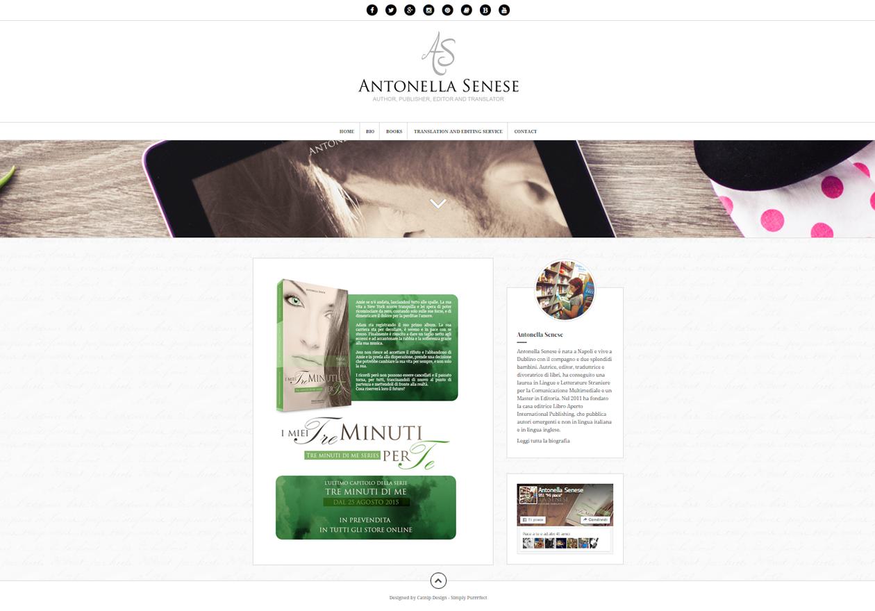 Sito web Antonella Senese