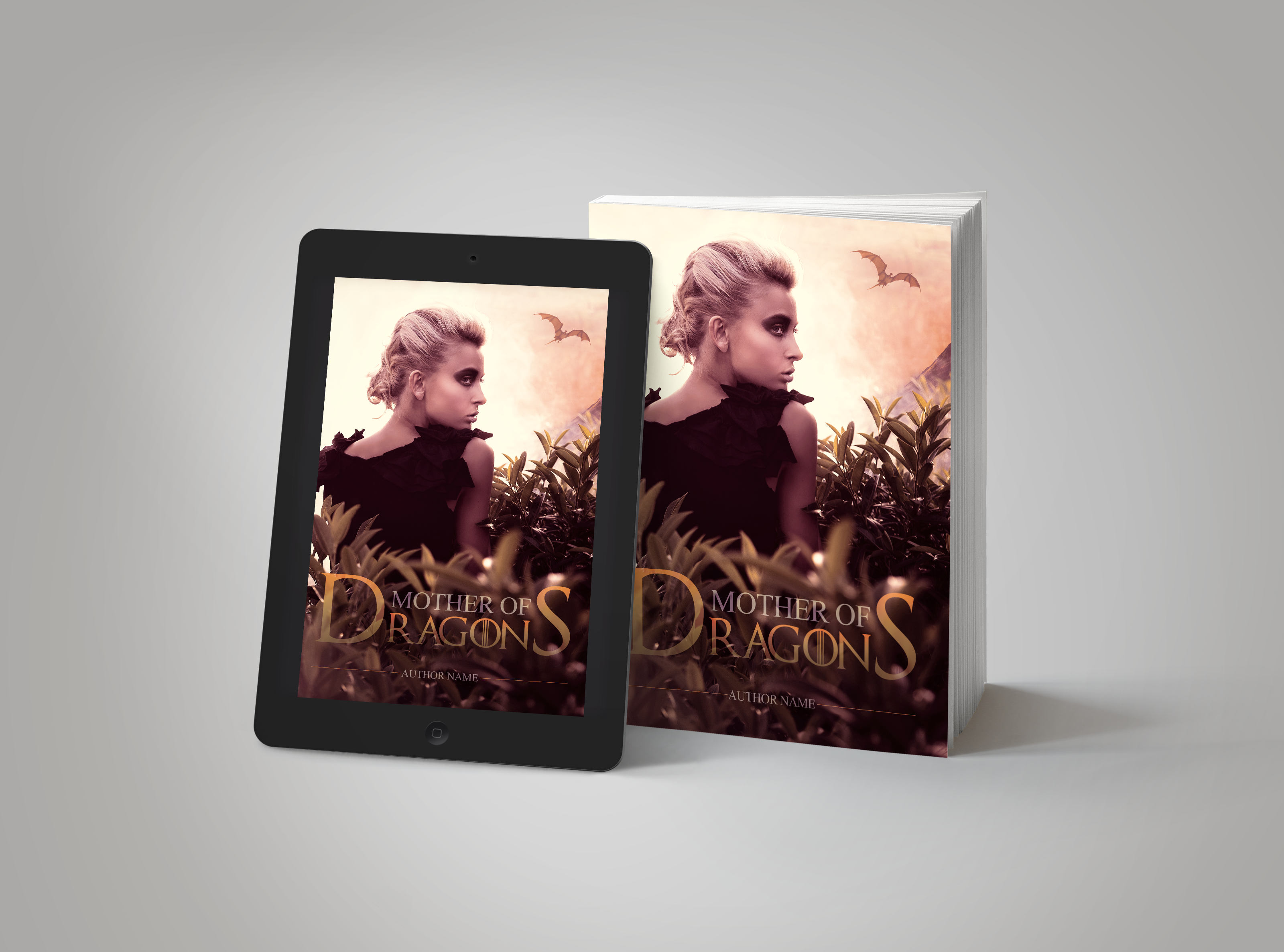 Premade Book Cover Mother of Dragons