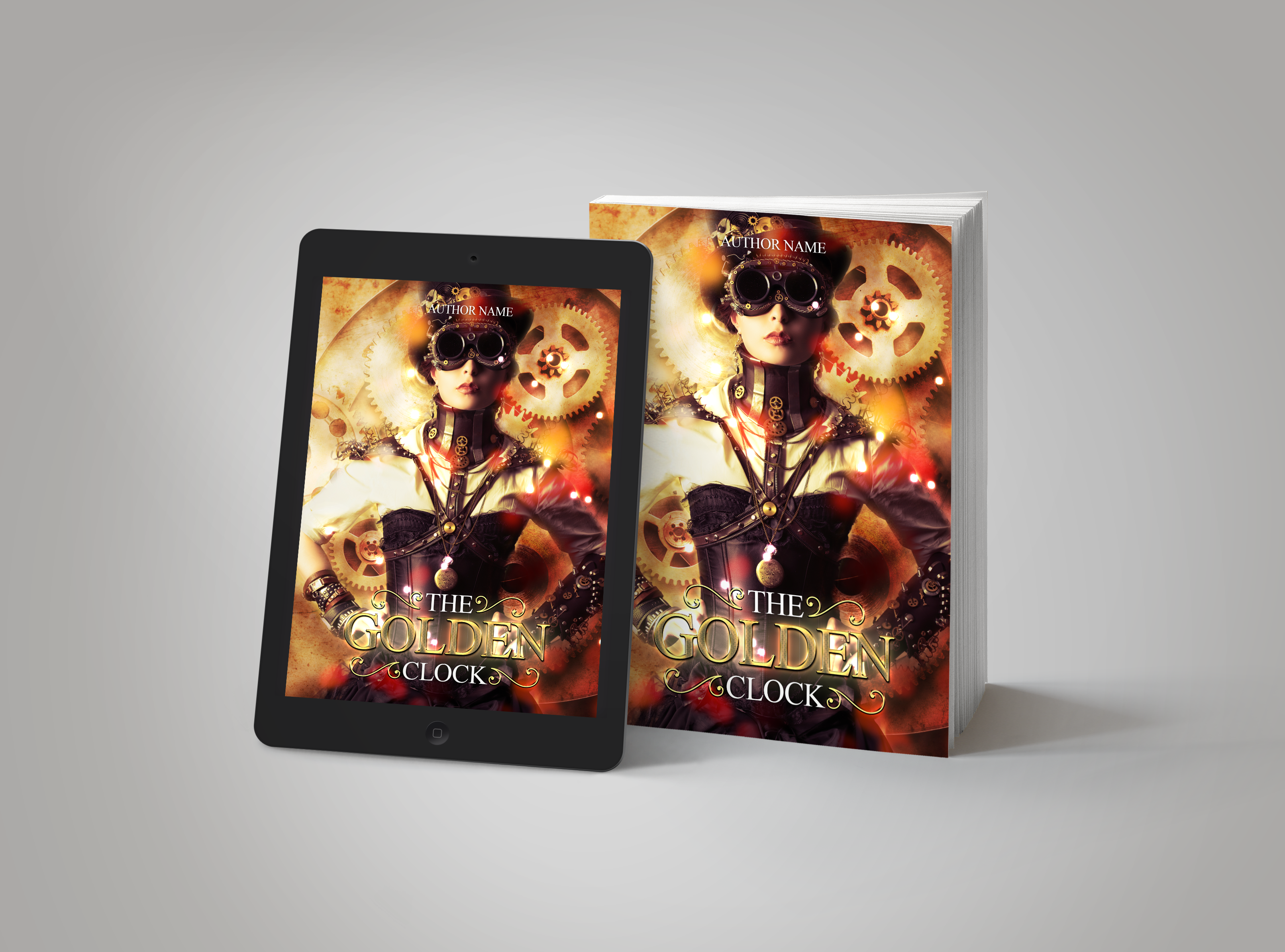 Premade Book Cover The Golden Clock