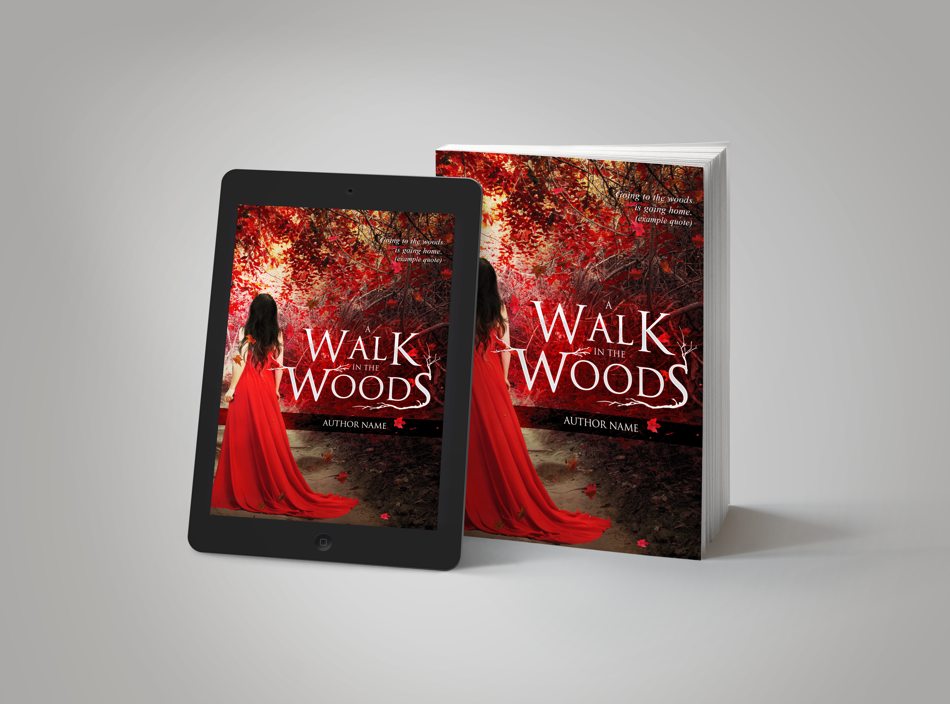 Premade Book Cover A Walk In The Woods