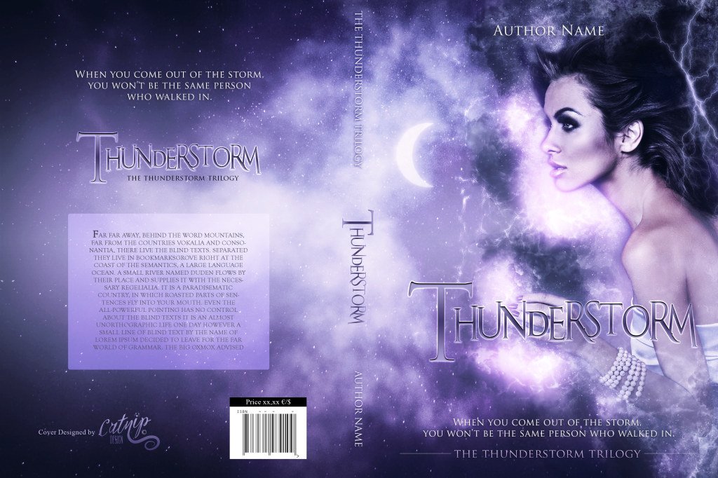 Premade Book Cover Thunderstorm