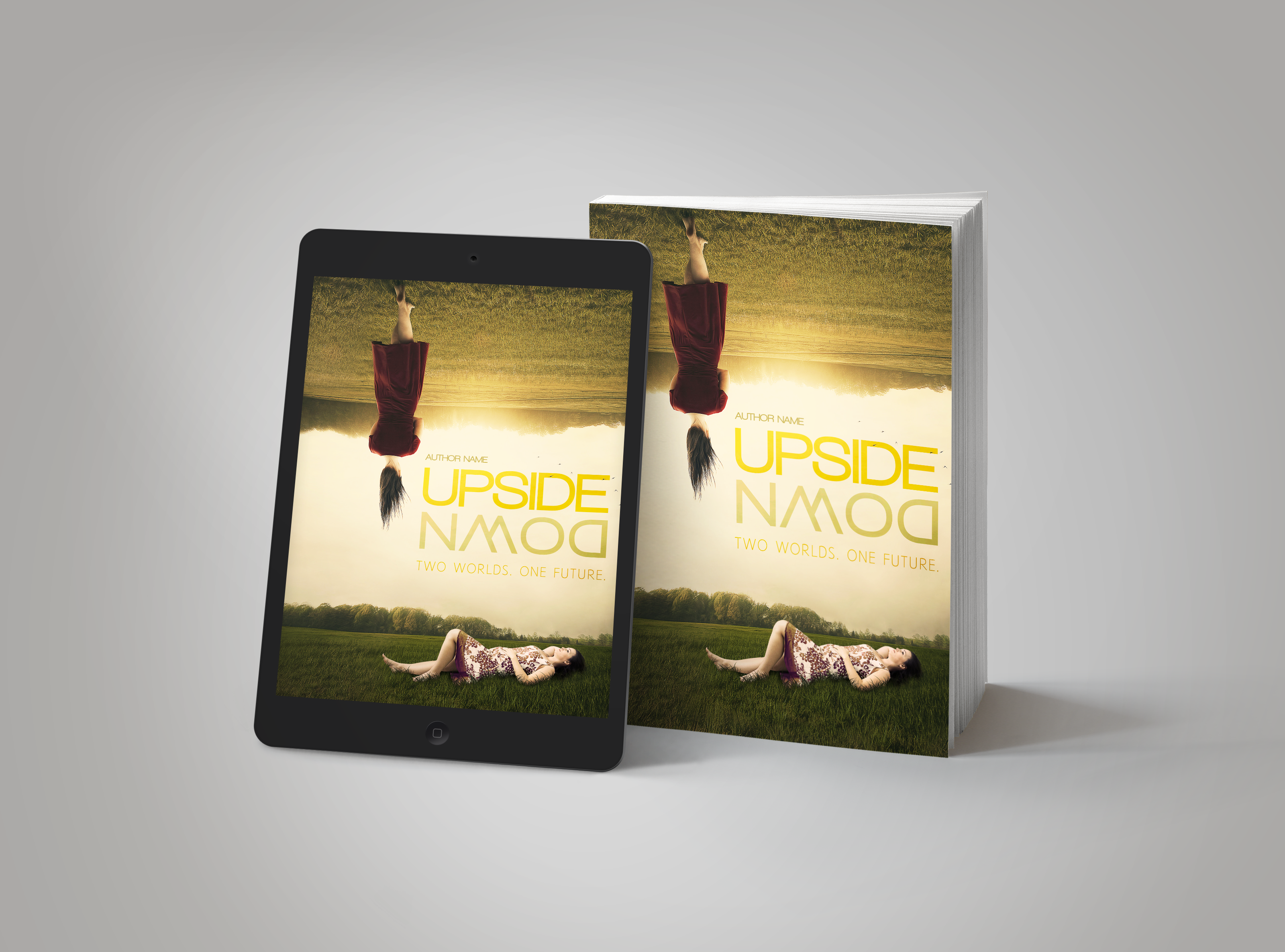Premade Book Cover Upside Down
