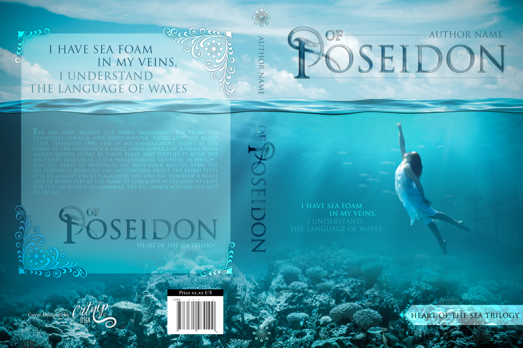 Premade Book Cover Of Poseidon