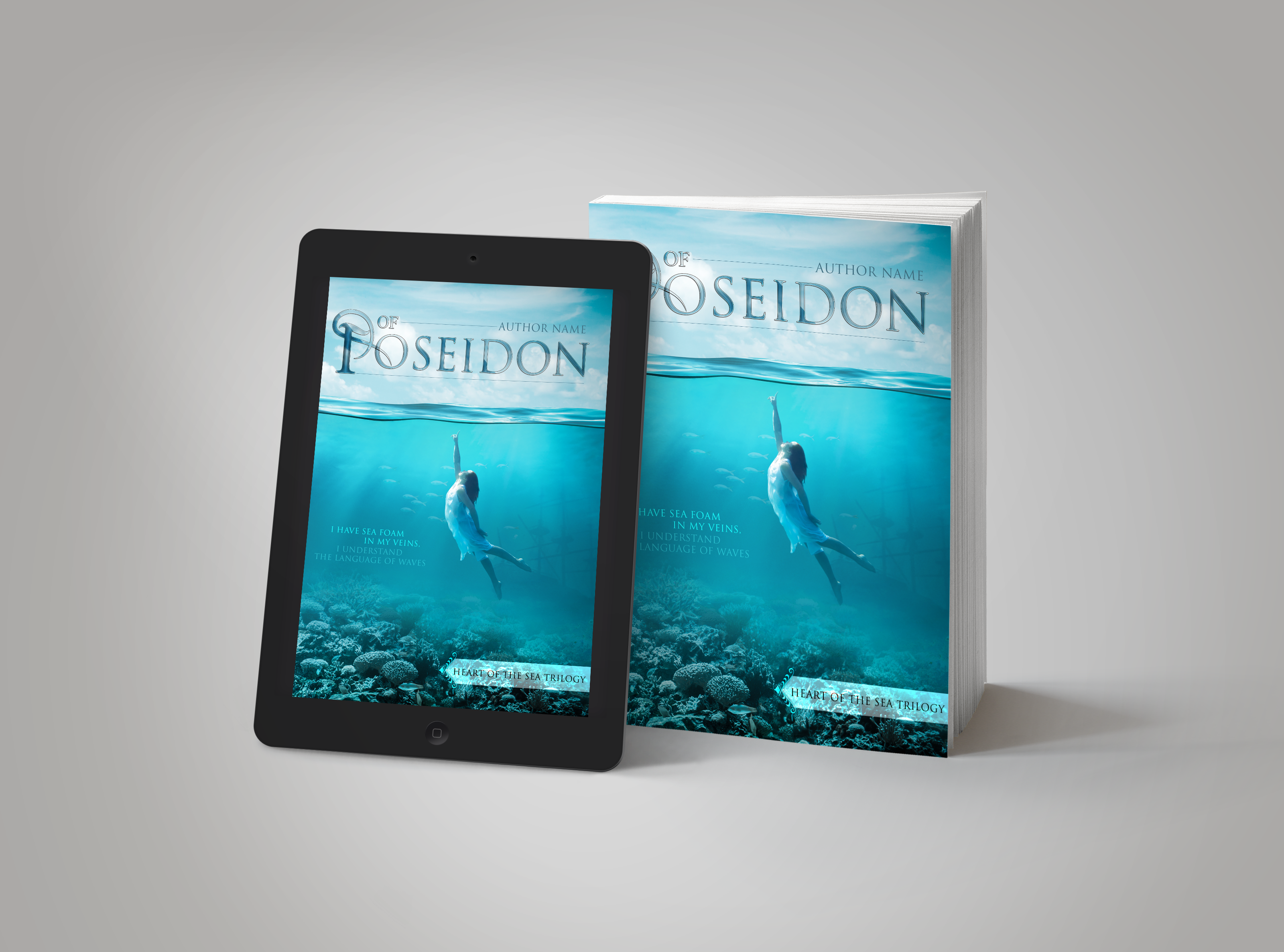 Premade Book Cover Of Poseidon