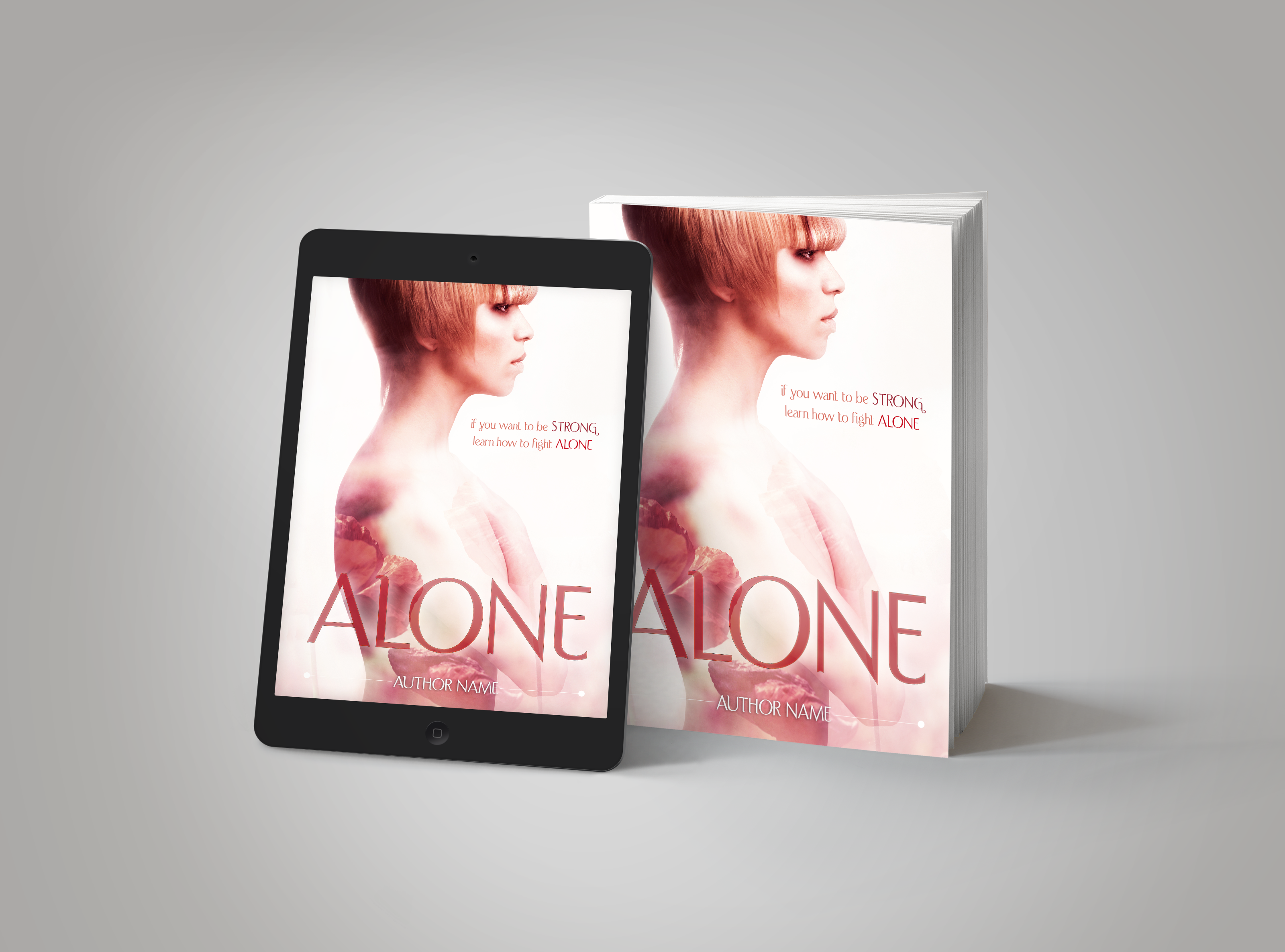 Premade Book Cover Alone